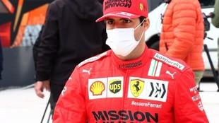 Carlos Sainz, el jueves, en GP de Emilia Romagna, en el circuito de...