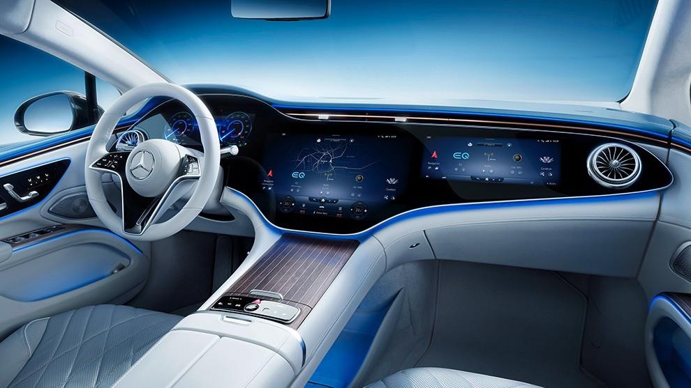 Mercedes-Benz EQS eléctrico 2021 Hyperscreen