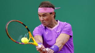 Rafael Nadal en el Masters 1000 de Montecarlo 2021.