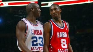 Jordan and Kobe during 2003 All-Star game
