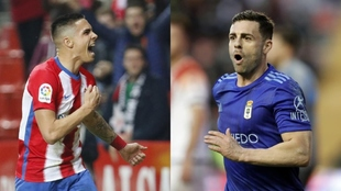 Djurkovic  y Rodri celebran uno de los goles marcados esta temporada