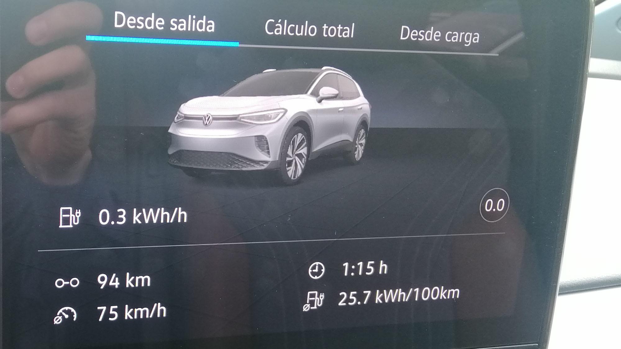 Pantalla central de 12,3 pulgadas del Volkswagen ID.4.