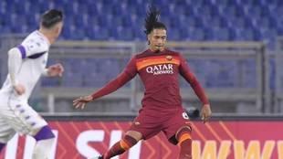 Chris Smalling, en un partido con la Roma.