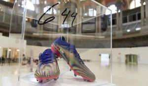 Messi's record breaking boots