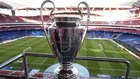 The Champions League trophy at the Estadio da Luz.