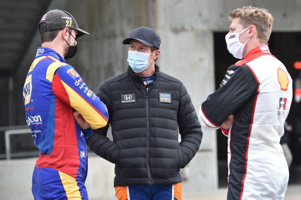 Rossi, Dixon y Newgarden