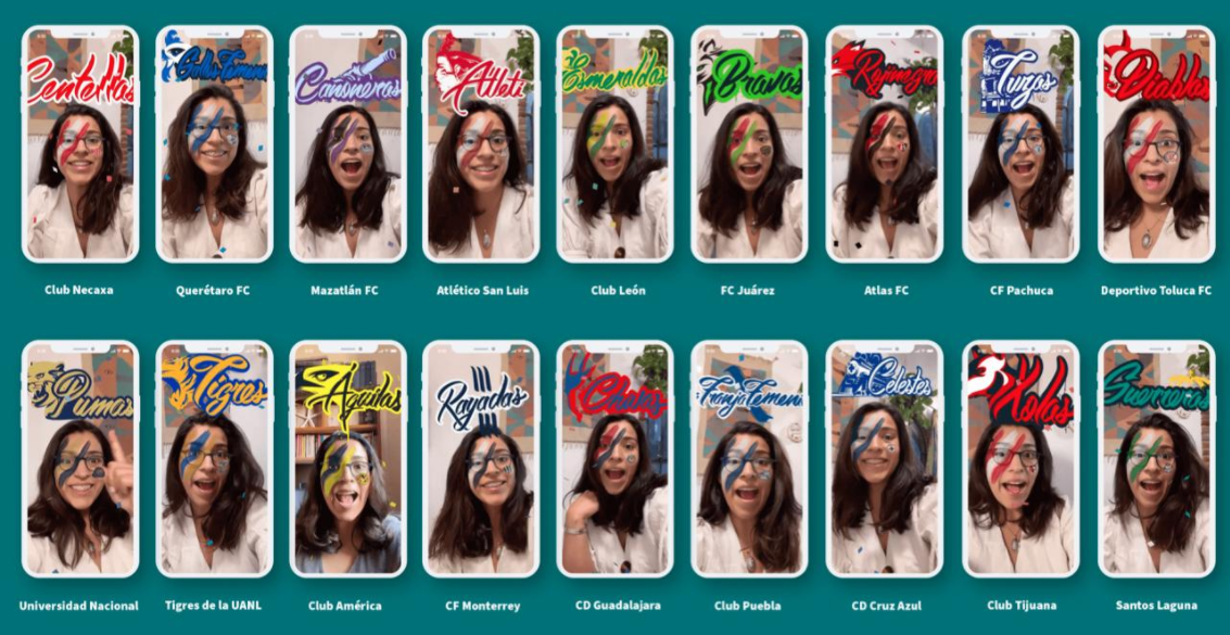 Liga MX y Facebook Lanzan filtros de realidad aumentada para apoyar a tu equipo