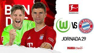 Wolfsburg vs Bayern: Transmisión en vivo internet gratis.