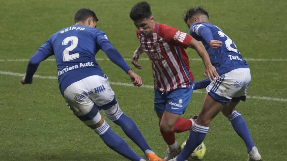 Johannesson adelanta al Oviedo en el derbi