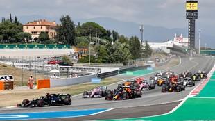 La salida del GP de España del año pasado, en Montmeló