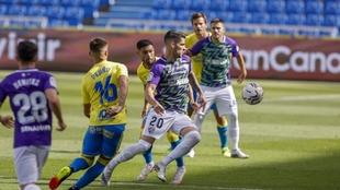 Lance del partido disputado en el Gran Canaria