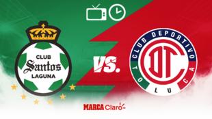 Santos vs Toluca: Horario y dónde ver en vivo.