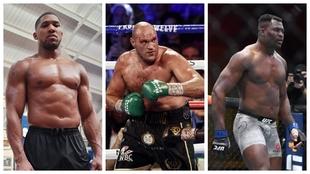 Joshua, Fury y Ngannou.