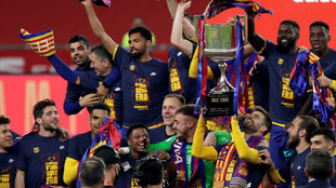 The message on Barcelona's celebration t-shirts: The first of a new era