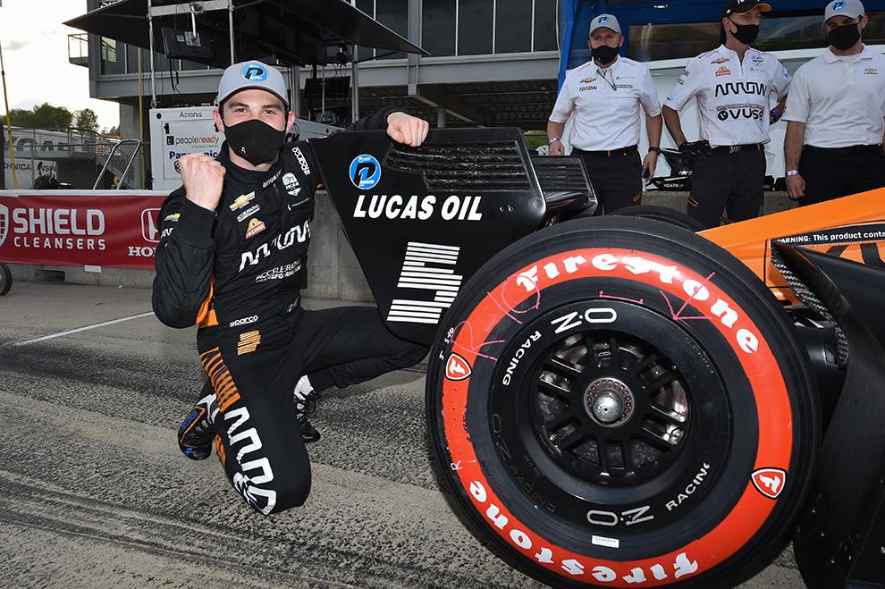 Patricio O'Ward Indycar 2021 pole position en Barber