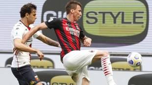 Mario Mandzukic, en el partido contra el Genoa.