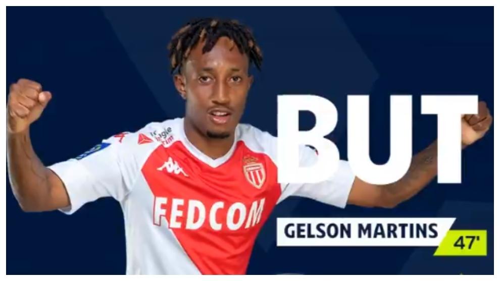 Gelson Martins celebra un gol.