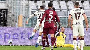 Mayoral marca frente al Torino.
