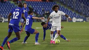 Marcelo, durante el partido ante el Getafe