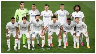 El once del Real Madrid en el partido contra el Getafe