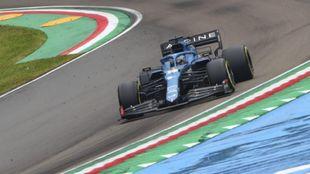 Fernando Alonso, en Imola.