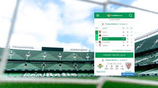 Clasificación errónea en la web del Betis