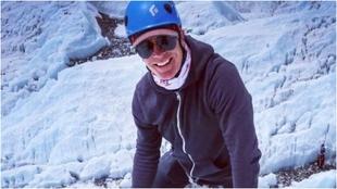 Mark Pattison, en el Everest.
