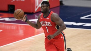 Zion Williamson with the Pelicans.