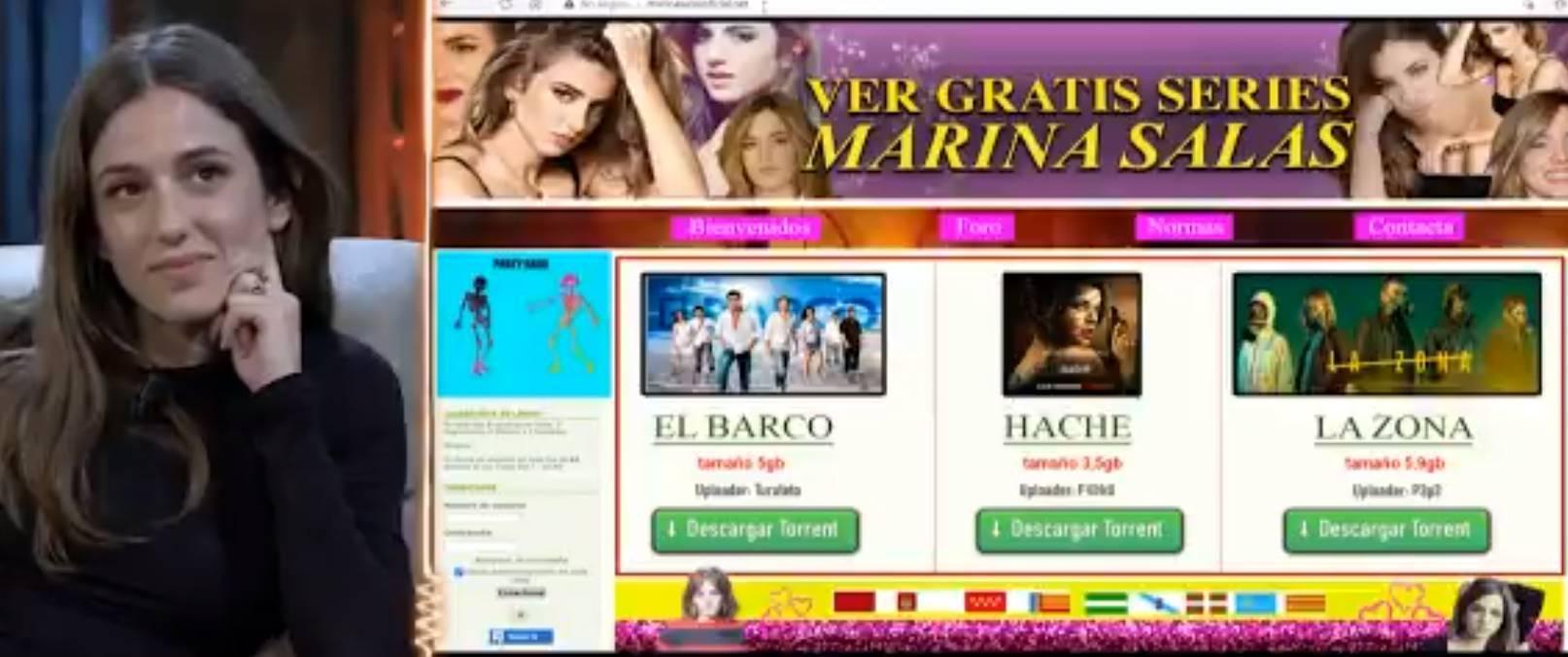 Marina Salas alucina con lo que sale si accedes a uno de sus dominios de internet