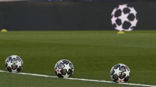 Una imagen antes del Real Madrid-Liverpool, en Valdebebas