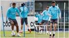 Varane y Nacho, durante el entrenamiento
