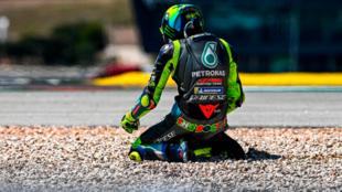 Rossi, tras su caída el pasado domingo en Portimao