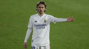 Luka Modric, durante el partido ante el Getafe