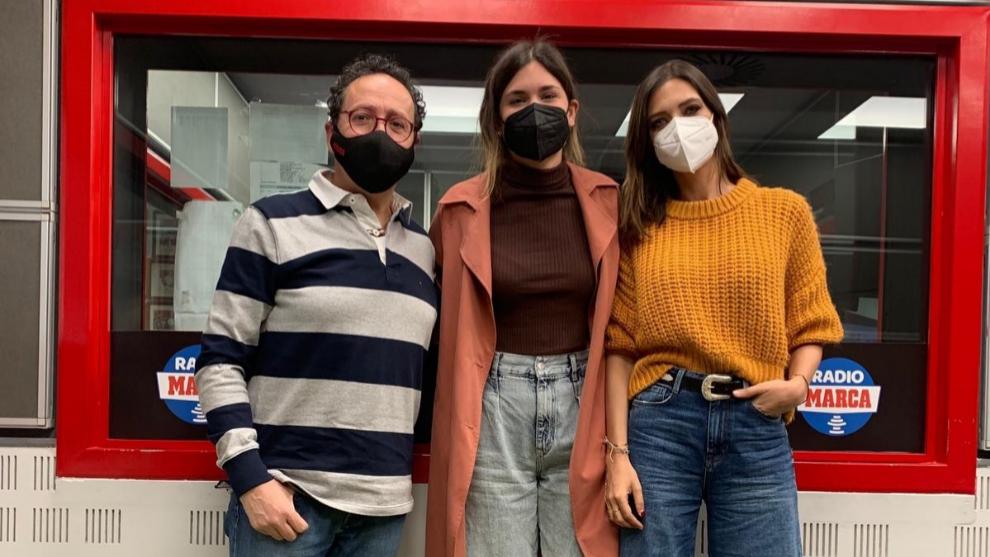 Elvira Sastre junto a Sara Carbonero y Vicente Ortega en T4