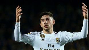Fede Valverde en un juego con el Real Madrid.
