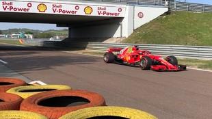 Carlos Sainz, hoy miércoles, en el circuito de Fiorano