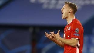 Kimmich celebra un gol con el Bayern.