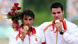 Pérez Rial y Saúl Craviotto, con sus medallas de oro