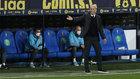 Zinedine Zidane, durante el partido en el Carranza