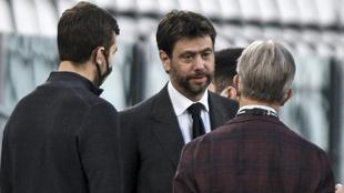 Andrea Agnelli, antes del último partido ante el Parma.
