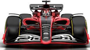 Imagen del nuevo coche que la F1 adaptará para el próximo año.