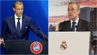 Ceferin no descarta echar al Madrid
