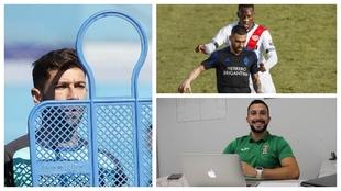 Adrián Embarba, con el Espanyol; Dani Romera, con la Ponfe ante...