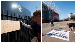 United fans descend on Carrington in protest