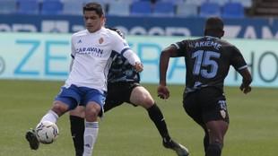 Toro Fernández durante un partido con el Real Zaragoza.