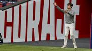 Pacheta durante el partido ante el Atlético.