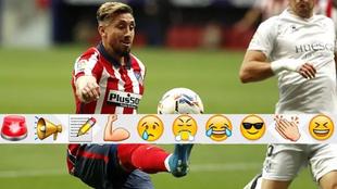 Héctor Herrera en el triunfo del Atlético ante Huesca.