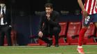 Cholo Simeone durante el partido ante el Huesca.