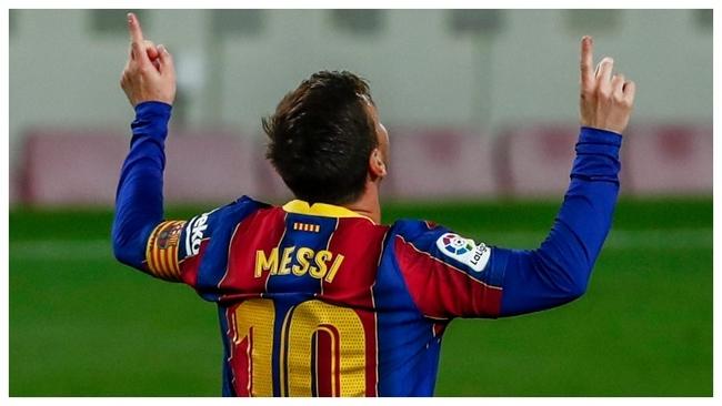 Messi celebrates against Getafe.