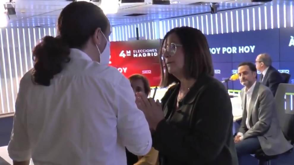 Angels Barceló intentó que Pablo Iglesias no abandonara el estudio de la SER